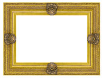 Vintage gold wooden picture frame Royalty Free Stock Photo