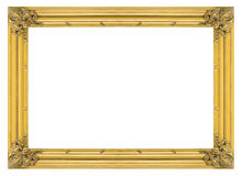 Vintage gold wooden picture frame Stock Images