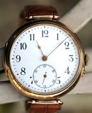 Vintage gold wrist watch Royalty Free Stock Images