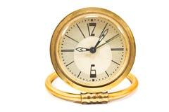 Vintage golden alarm clock Stock Images