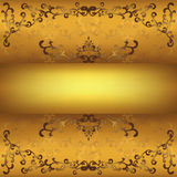 Vintage golden background Stock Photography