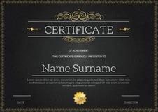 Vintage golden classic certificate ,Certificate of achievement t. Emplate Stock Photos