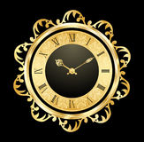Vintage golden clock Stock Photo