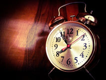 Vintage Golden Clock Stock Photography