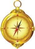 Vintage Golden Compass Stock Photo