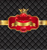 Vintage golden emblem with royal crown Stock Photography