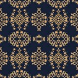 Vintage golden floral paisley pattern in ethnic style.  royalty free illustration