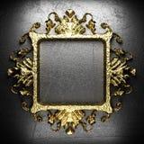 Vintage golden frame Stock Images
