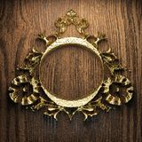 Vintage golden frame Stock Images