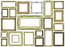 Vintage golden frame with blank space Royalty Free Stock Photo
