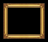 Vintage golden frame with blank space, with clipping path Stock Photos