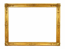 Vintage golden frame with blank space Royalty Free Stock Photos