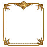 Vintage golden frame with blank space Stock Photos