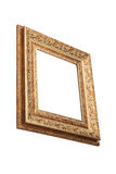 Vintage golden frame with blank space. Royalty Free Stock Photos