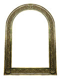 Vintage golden frame with blank space on white background Royalty Free Stock Photography