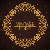 Vintage golden frame on grunge background Stock Photography
