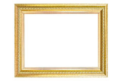 Vintage golden frame isolated. Stock Image
