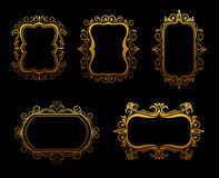 Vintage golden frames Royalty Free Stock Image