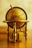 Vintage golden globe Stock Photos