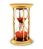 Vintage golden hourglass Royalty Free Stock Photography