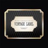 Vintage golden label Stock Photos