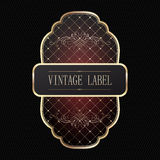 Vintage golden label Stock Images