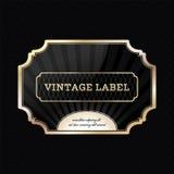 Vintage golden label Royalty Free Stock Images