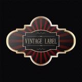Vintage golden label Stock Image