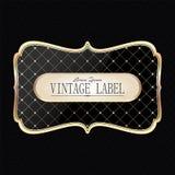 Vintage golden label Royalty Free Stock Image