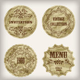 Vintage Golden Labels Royalty Free Stock Photography