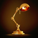 Vintage golden lamp on black background Royalty Free Stock Photo