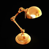 Vintage golden lamp isolated on black background Royalty Free Stock Photos