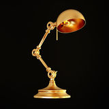 Vintage golden lamp isolated on black background Royalty Free Stock Photography