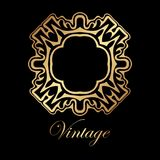 Vintage golden logo. Template. Vector logotype element, retro label, badge Royalty Free Stock Image