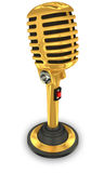 Vintage golden microphone Royalty Free Stock Images