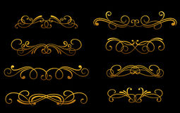 Vintage golden monograms Stock Images