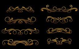 Vintage golden monograms Stock Images