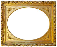Vintage golden picture frame stock image