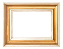 Vintage golden picture frame isolated white background. Vintage golden picture frame isolated on white background Royalty Free Stock Images