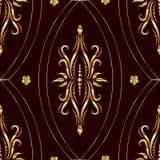 Vintage golden seamless pattern stock photos