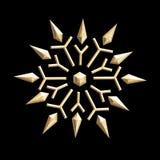 Vintage golden snowflake Royalty Free Stock Photo