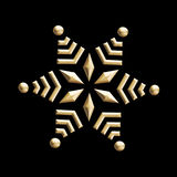 vintage golden snowflake Stock Images