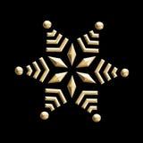 Vintage golden snowflake Stock Images
