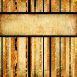 Vintage golden stripes Stock Images