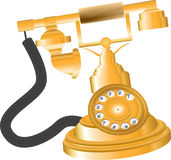 Vintage Golden Telephone Royalty Free Stock Image