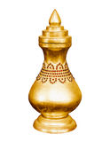 Vintage golden vessel. Myanmar, Mandalay Stock Images