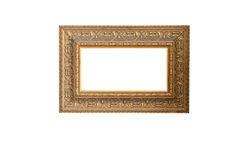 Vintage golden wooden picture frame Royalty Free Stock Images