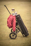Vintage golf bag Stock Image