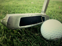 Vintage Golf. Ball Close up Background Royalty Free Stock Images