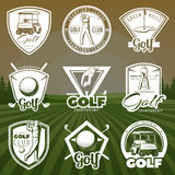 Vintage Golf Club Logos Stock Images